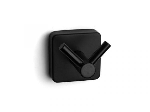 Vješalica dvostruka QUATTRO matt black 42 02 55